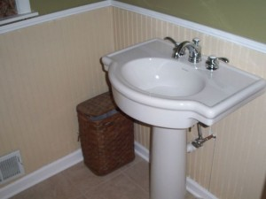 Newly-finished bathroom