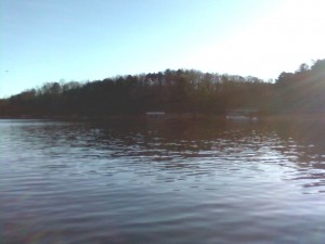 picture of dock taken from canoe
