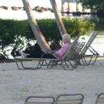 Ma T reading and enjoying the island surroundings