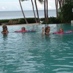 Gals in pool