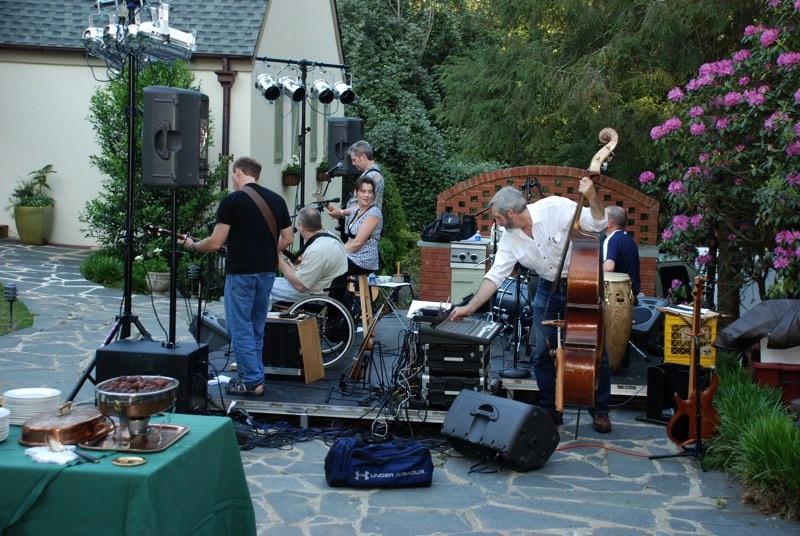 Sound check outdoor gig